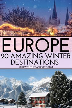 Looking for the perfect winter destination in Europe to add to your winter in Europe travel itinerary? Then check out these 20 amazing cities in Europe. From scenic winter landscapes in Scandinavia to skiing and winter sports in Switzerland, to winter s Eurotrip, Winter Sun Destinations, Europe Destinations, Europa Im Winter, Destination Soleil, Europe Travel Guide, Travel Tips, Travel Hacks, Solo Travel