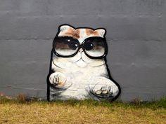 Snoopy the cat graffiti
