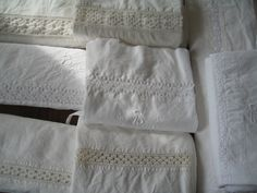 I LOVE vintage linen. My favorite thing to look for in antique stores :)