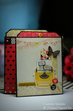 Valentines Day Mini Album - My Mind's Eye (My Story Collection) - Patterned Papers & Me My Mind, Hello Everyone, Pattern Paper, Mini Albums, Valentines Day, Paper Crafts, Scrapbook, Create, Collection