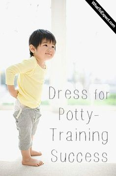 Tips to dress your toddler so that potty-training is easier for both of you