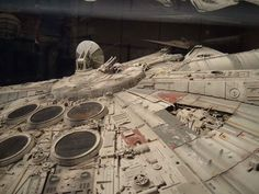 The real Millennium Falcon from Lucasfilm archives exhibit