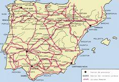 Calzadas romanas Hispania Spain History, European History, World History, Map Of Spain, Roman Names, Roman Roads, Roman History, Vintage Maps, Prehistory