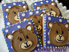 Build A Bear - Bear Cookies Decorated Cookies Birthday Party by CookieCoterie, $29.00