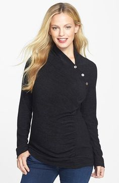 Japanese Weekend Asymmetrical Maternity Top available at #Nordstrom