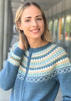 Garnpakke: Gretekofte i Alpakka Forte - Knitting Inna Diana, Pullover, Denim, Knitting, Sweaters, Fashion, Threading, Moda, Tricot