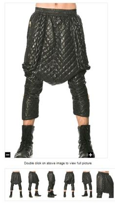 KTZ Quilted Leather Pants