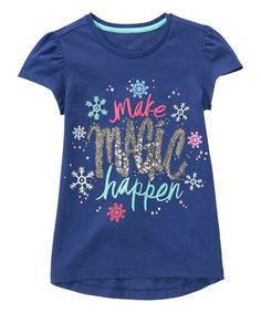 Gymboree Seafarer 'Make Magic Happen' Tee - Girls by Gymboree #zulily #zulilyfinds