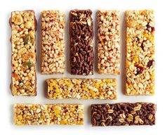 The next time you pick up energy bars at the grocery store, take a look at the ingredient list and nutritional label.  Pick up the healthiest energy bars that don't include lots of sugar, carbs, sweeteners or unreadable ingredients. Opt for bars with real food ingredients and are only sweetened with fruit.