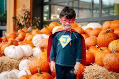 A Super (Market) Hero because DIY. Pumpkin, Hero, Costumes, Halloween, Kids, Young Children, Pumpkins, Boys, Heroes