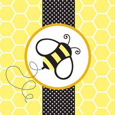 $4.60  Enjoy the Bumble Bee Napkins from the Buzz pattern at your upcoming spring or summer event. The design features a sweet bumble bee on a polka dot and honeycomb patterned background. These paper lunch napkins are available in packages of 16.