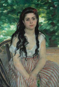 Renoir Pierre Auguste - Summer or The Gypsy Girl Premium Poster Pierre Auguste Renoir, Claude Monet, Philip Johnson, Jasper Johns, Artist Canvas, Canvas Art, Buy Canvas, Art Pierre, National Gallery