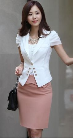 white blazer office outfit - Google Search