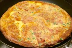 Empty the freezer challenge Week 1 pea and ham omelette