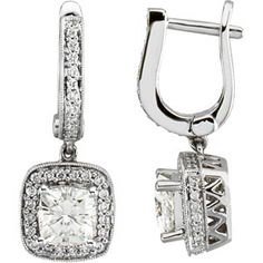 2 CT Moissanite and 3/4 CT Diamond Earrings - Clearance $1699.97