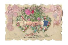Carte Postale Celluloïd Ancienne Découpis par LaBelleEpoqueDeco