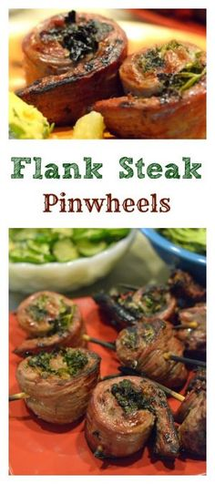 Flank Steak Pinwheels feature quality flattened flank steak that is butterflied, flattened, and topped with some savory greens of your choice with a little Parmesan cheese. The seasoned steak is then rolled up and grilled to summer perfection.