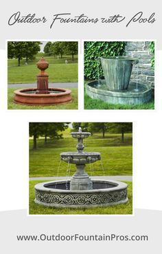 Outdoor Fountains with Pools Patio Ideas, Outdoor Ideas, Backyard Ideas, Garden Ideas, Outdoor Decor, Outdoor Fountains, Water Fountains, Garden Fountains, Side Yard Landscaping