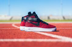 "Nike Air Force 1 Ultra Flyknit Mid ""University Red"" - EU Kicks: Sneaker Magazine"
