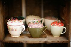 Demitasse pin cushions.....