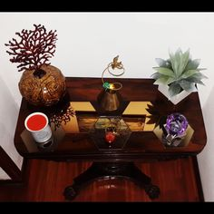 Table candle crystal ashtray plant pot HomeDecor