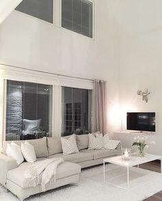 Dream Home Design, House Design, Apartment Floor Plans, Apartment Living, Loft, Decoration, Building A House, Living Room Decor, House Plans