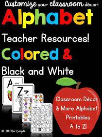http://www.teacherspayteachers.com/Product/Alphabet-Teacher-Resources-1436982