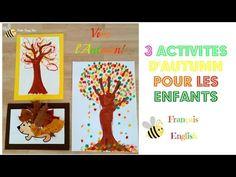 3 activités d'Autumn pour les enfants (peinture aux doigts, collage, recyclage) - YouTube