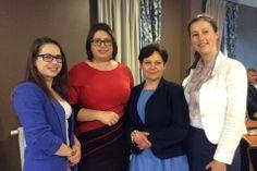 Alina Vogelgezang podczas warsztatów kobiet przedsiębiorczych.