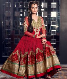 Find best value and selection for your #Bollywood Traditional Indian Designer #AnarkaliSuit online fashion shopping search on Shoppers99..  Get Them Now:- http://www.shoppers99.com/festive_sale/dia_mirza_designer_anarkali_suit_collection