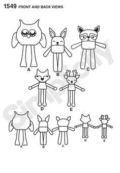 Easy Stuffed Animals Pattern, Childs' Stuffed Animals