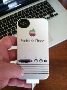 iPhone 4S retro Macintosh case