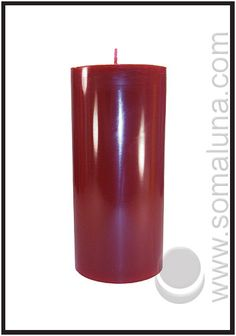 Black Cherry Pillar Candle 6.5 x 3