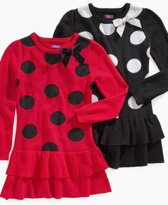 So Jenni Girls Dress, Little Girls Dot Sweater Dresses - Kids Girls 2-6X - Macy's