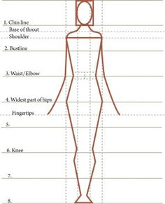 Your Best Silhouette Learn how to design for body types using age-old proportion rules, and print out a master grid for your designs.Learn how to design for body types using age-old proportion rules, and print out a master grid for your designs. Sewing Hacks, Sewing Tutorials, Sewing Patterns, Style Patterns, Fashion Patterns, Sewing Basics, Fashion Figures, Pattern Drafting, High End Fashion