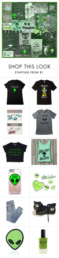 """""""👽 It's Supernatural, Extraterrestrial  👽"""" by adventuretimekitty ❤ liked on Polyvore featuring Meri Meri, Casetify, Mix Nouveau, Converse, Love and Madness, Lauren B. Beauty, Alien and aesthetic"""