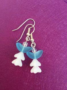Glass Angel Earrings by Amalynhandmade on Etsy