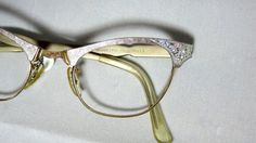 Vintage Eyelgasses. 50s Cat Eye Glasses. by CollectableSpectacle, $85.00