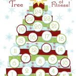 O' Fitness Tree printable fitness advent calendar! #exercise #fitness #calendar This site has tons of exercise calendars and challenges for each month and different areas of your body!