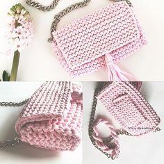 сумочка из трикотажной пряжи