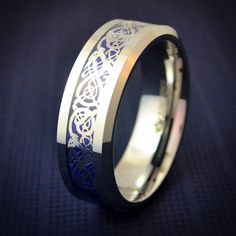 Friends of Irony Tungsten Carbide Horseshoe Ring 8mm Wedding Band Anniversary Ring for Men and Women
