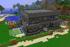 minecraft | NomadicEducation: Minecraft Lesson Plans| a mine craft building that someone created on minecraft