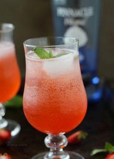 Strawberry Basil Sparkler Summer Drinks #summer