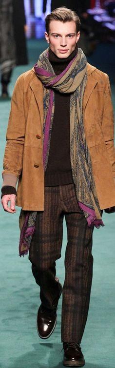 #Farbbberatung #Stilberatung #Farbenreich mit www.farben-reich.com Etro Fall 2015 Menswear