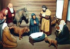 This creche was made in Brienz, Switzerland, by skilled Swiss wood carvers. It is part of a very large nativity set.     http://www-personal.umich.edu/~akc/Creche/wooddetail.htm