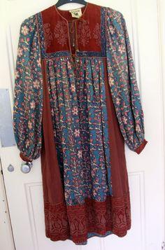 Vintage  Anokhi Womens Dress Festival  Ethnic by OhHazelVintage, £99.99