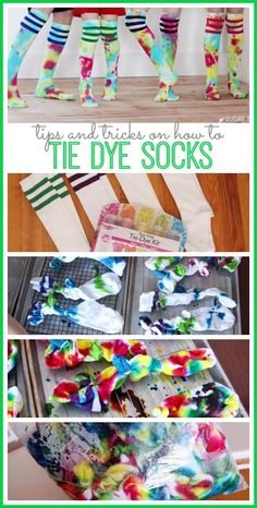 how to tie dye socks
