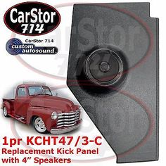 "Custom autosound #kcht-47/3-c kick panel/4"" 2-way #speakers #47-53 chevy/gmc truc,  View more on the LINK: 	http://www.zeppy.io/product/gb/2/281739443359/"