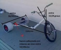 How I built a Drift Trike a step by step guide. : Frame Geometry.
