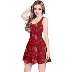 CowCow Womens Red Cute Skulls Pattern Skater Dress Red  M -- Read more  at the image link.